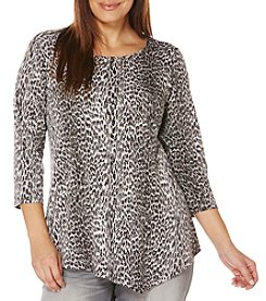 Rafaella® Plus Size Animal Print Tunic