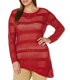 Rafaella® Plus Size Lurex Pullover Sweater