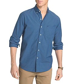 Izod® Men's Button Down Solid Woven Shirt