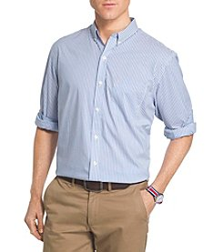 Izod® Men's Long Sleeve Advantage Stripe Button Down Woven Shirt