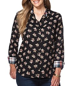 Chaps® Plus Size Floral Button-Up Shirt