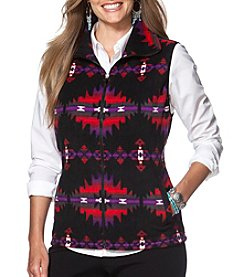 Chaps® Plus Size Patterned Fleece Vest
