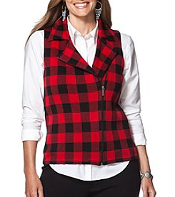 Chaps® Plus Size Buffalo Check Sweater Vest