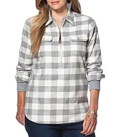 Chaps® Plus Size Buffalo Check Twill Pullover
