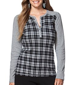 Chaps® Plus Size Buffalo Plaid Henley Shirt