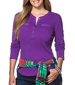 Chaps® Plus Size Cotton Pocket Henley