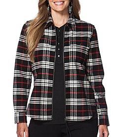 Chaps® Plus Size Plaid Twill Full-Zip Workshirt