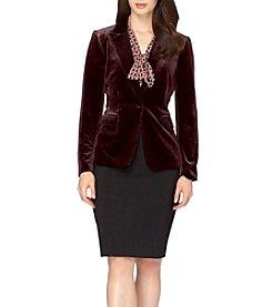 Tahari ASL® Velvet Blazer Jacket