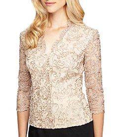 Alex Evenings® Illusion Woven Top