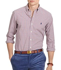 Polo Ralph Lauren® Men's Checked Poplin Sport Shirt