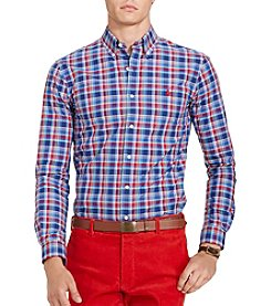 Polo Ralph Lauren® Men's Plaid Poplin Sport Shirt