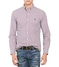 Polo Ralph Lauren® Men's Slim-Fit Mini-Gingham Poplin Shirt
