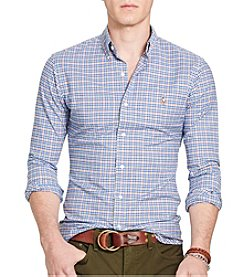Polo Ralph Lauren® Men's Slim-Fit Checked Stretch-Oxford Shirt
