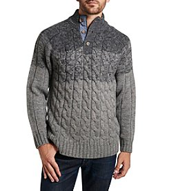 Weatherproof Vintage® Men's Ombre Cable Button Mockneck Sweater