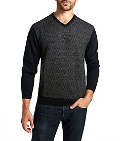 Weatherproof® Men's Black Diamond V-Neck Sweater