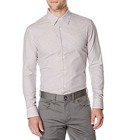 Perry Ellis® Men's Striped Dobby Cross Button Down Shirt
