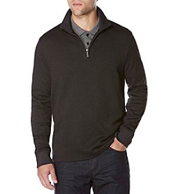 Perry Ellis® Men's Iridescent Quarter Zip Sweater