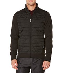 Perry Ellis® Men's Mixed Media Quilted Jacket