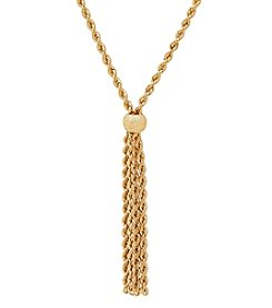 Rope Dangle Necklace In 18K Yellow Gold