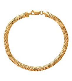 Herringbone Link Bracelet In 14K Yellow Gold