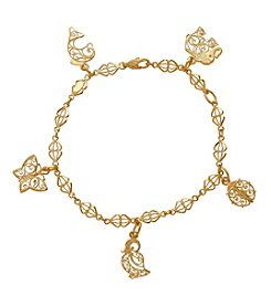Animal Charm Bracelet In 14K Yellow Gold