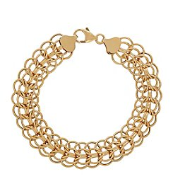 Hoop Bracelet In 14K Yellow Gold
