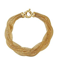 Braided Mesh Bracelet In 14K Yellow Gold