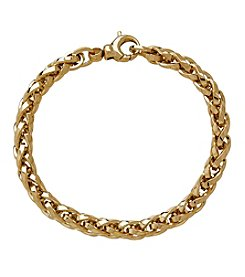Interlock Chain Bracelet In 14K Yellow Gold