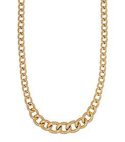 Graduated Curb Link Neckalce In 14K Yellow Gold