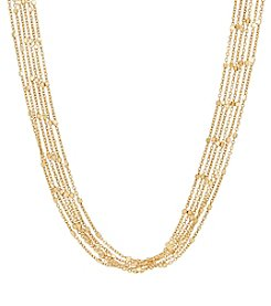 6 Strand Necklace In 14K Yellow Gold