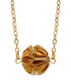 Crinkle Ball Pendant In 14K Yellow Gold