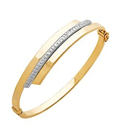 Bypass Bangle Bracelet In 14K Two-Tone Gold