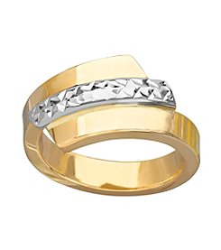 Bypass Ring In 14K Two Tone Gold