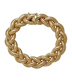 Braided Bracelet In 14K Yellow Gold