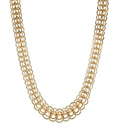 Hoop Chain Necklace In 14K Yellow Gold
