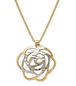 Flower Pendant In 14K Yellow Gold