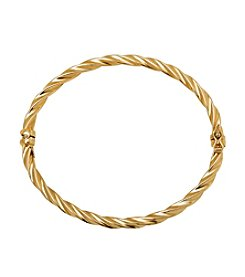 Twisted Bangle In 14K Yellow Gold