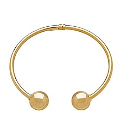 Beaded Cuff Bracelet In 14K Yellow Gold