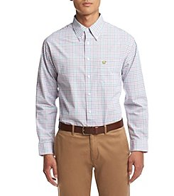 Jack Nicklaus Men's Multi Color Tattersal Long Sleeve Button Down Shirt