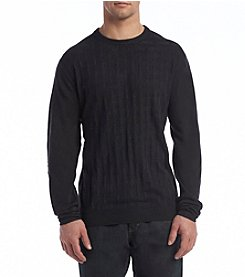Weatherproof® Men's Basket Stitch Crew Neck Sweater