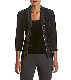 Alex Evenings® Velvet Twinset Jacket