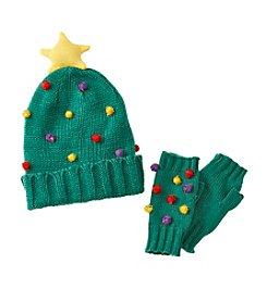 It's Our Time® Holiday Tree Hat Set
