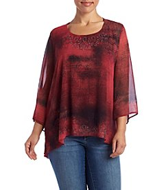 Oneworld® Plus Size Printed Blouse
