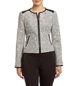 Calvin Klein Petites' Marled Zip Front Jacket