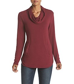 Cupio High-Low Cowlneck Top