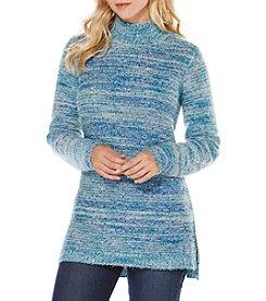 Rafaella® Mockneck Sequin Side Slit Sweater
