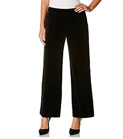 Rafaella® Velvet Pant Wide Leg Pants