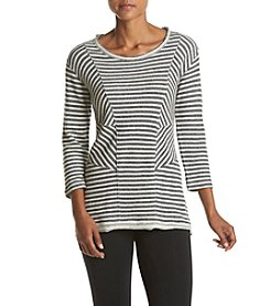 Calvin Klein Performance Seamed Pieced Stripe Knit Tunic