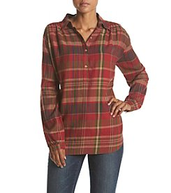 Chaps® Long Sleeve Plaid Twill Shirt