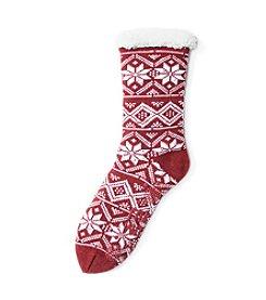 MUK LUKS Women's One-Pair Fluffy Cabin Socks